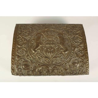 Antique Brass Repousse Box Preview