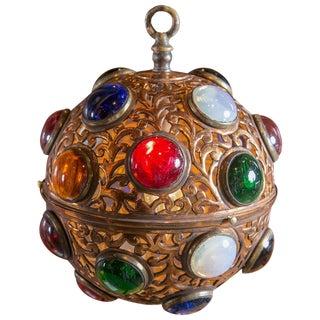 1940s Vintage Small Moroccan Copper Globe Light For Sale