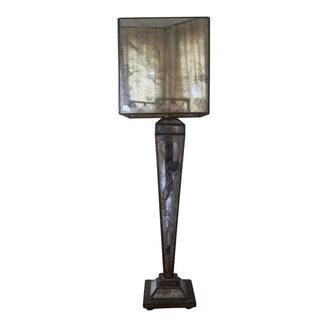 Worlds-Away Mirrored Lamp For Sale