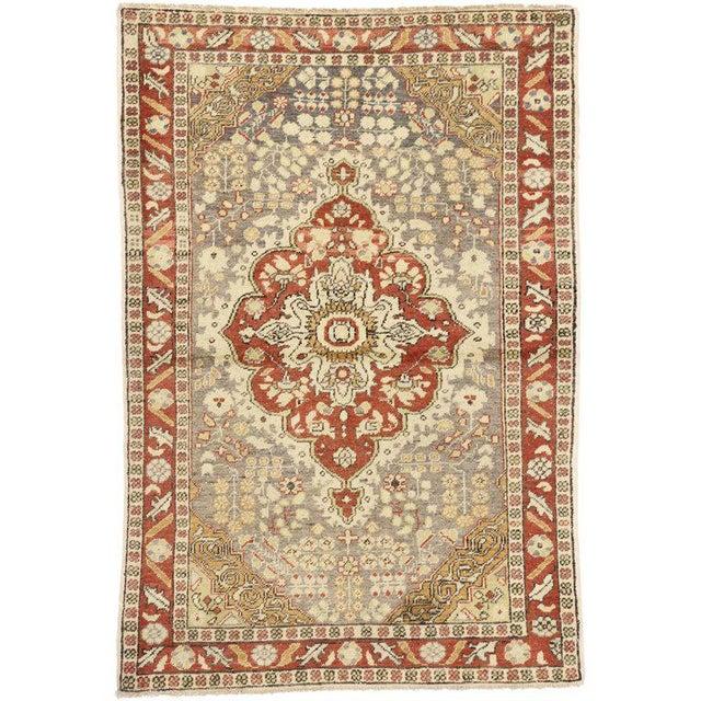 Textile Vintage Mid-Century Turkish Sivas Accent Rug - 4′5″ × 6′6″ For Sale - Image 7 of 7