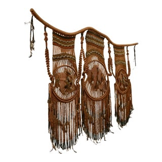 Tribal Art / 1960s Hippie Wall Hanging Combo