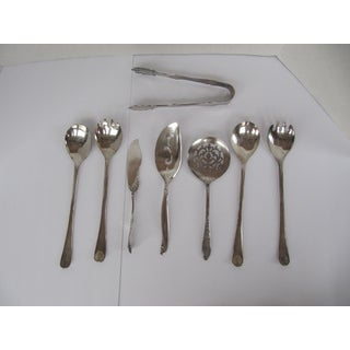 Vintage Silver-Plate Serving Utensils- 8 Pieces Preview