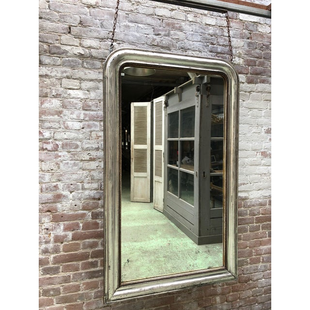 French 19th Century Silver Leaf Gilded Mirror For Sale - Image 6 of 8