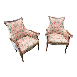 1930's French Accent Chairs - aPair For Sale