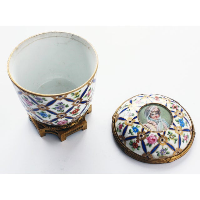Mid 19th Century Sevres Porcelain Covered Jar with Gilt Bronze Mounts For Sale - Image 5 of 5