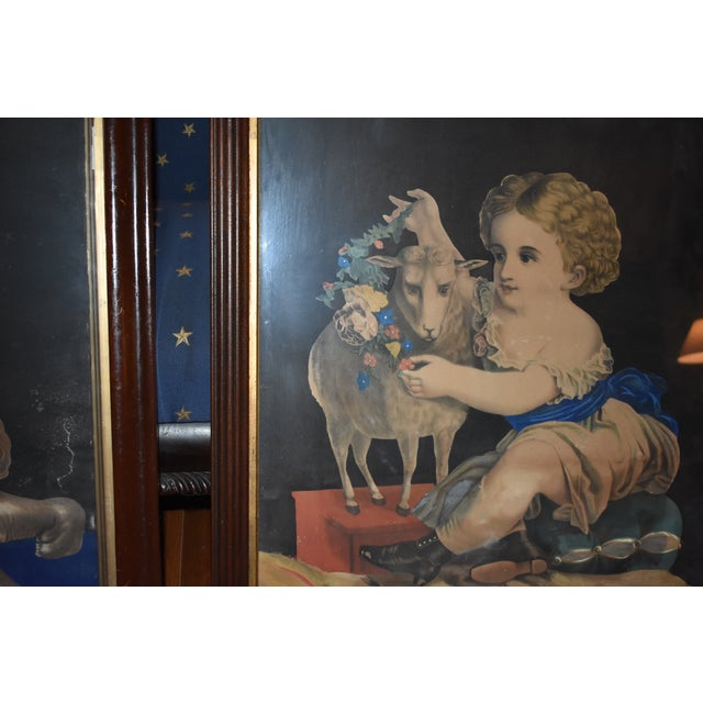 Blue 19th Century Antique Henry Schile Hand-Painted Lithographs, Painting Is Watercolor - a Pair For Sale - Image 8 of 11