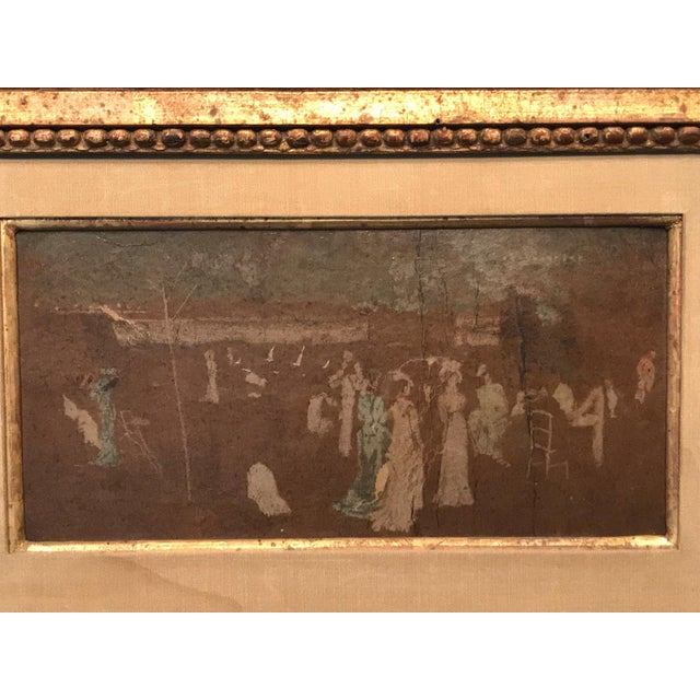 "Being offered is this small, vintage framed reputed study by James McNeill Whistler from his ""Nocturnes"" period ca. 1870...."