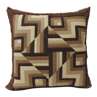 1950s Vintage Mid-Century Modern Tapestry Pillow For Sale