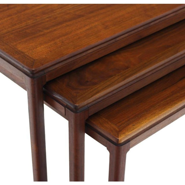 Early 20th Century Set of Three Teak Nesting Tables by Dux For Sale - Image 5 of 8