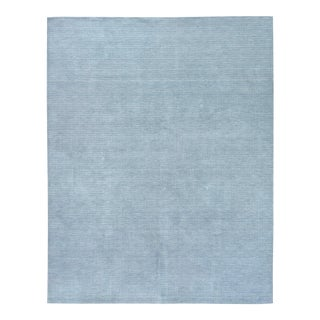 Exquisite Rugs Worcester Handwoven Wool Blue - 9'x12' For Sale