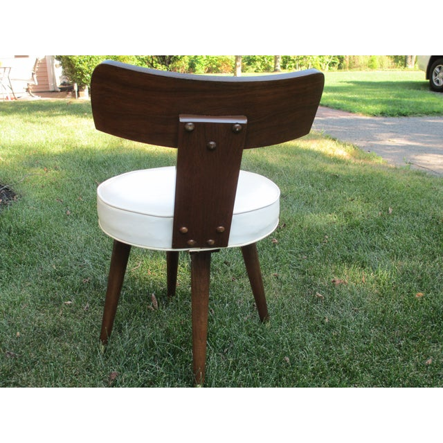 Mid-Century Swivel Vanity Chair - Image 3 of 7