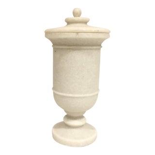Arteriors Modern Faux White Marble Miranda Urn For Sale