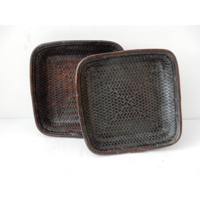 Kuba Wicker Baskets - A Pair For Sale - Image 7 of 8