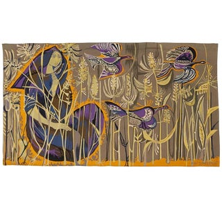 Exquisite Tapestry by Mary Dambiermont, Belgian For Sale