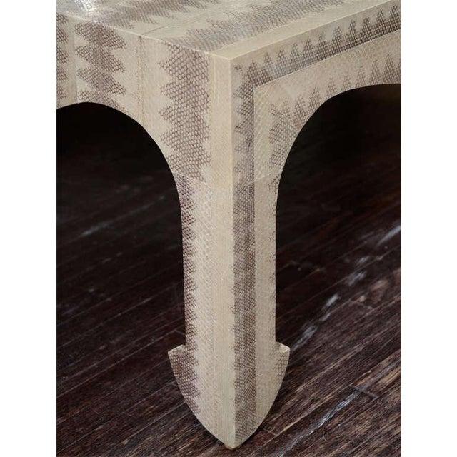 Custom python cocktail table.