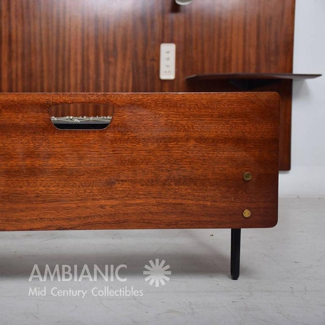 1950s Mid-Century Modern Italian Bed Frame For Sale - Image 5 of 10