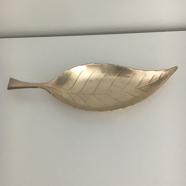 Vintage Brass Leaf Tray For Sale In Houston - Image 6 of 7
