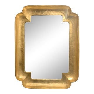 Double Cove Gold Leaf Wall Mirror For Sale