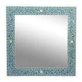 Image of Inlay Blue Mirror Frame For Sale