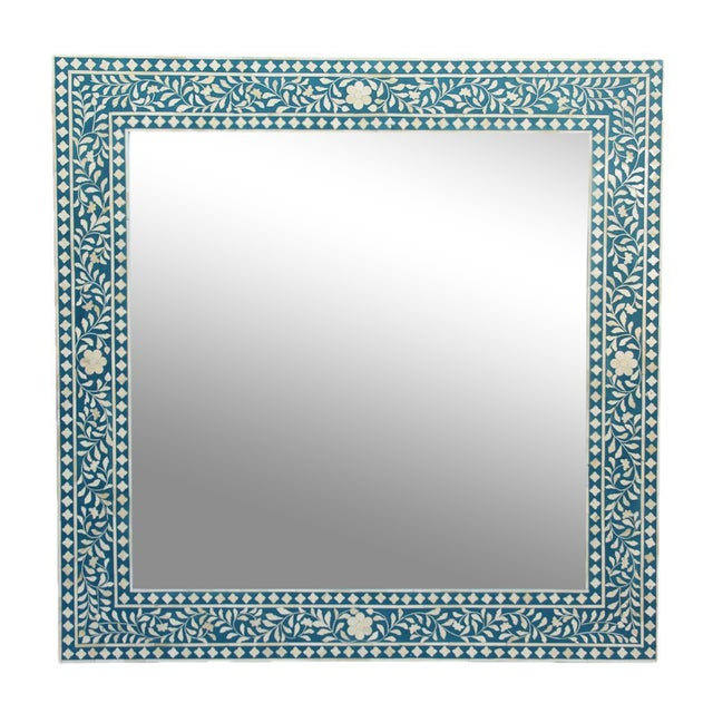 Inlay Blue Mirror Frame - Image 1 of 3