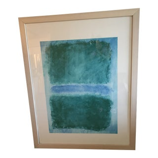 Mark Rothko Rare 1990s Untitled (Blue Divided by Blue) Print For Sale