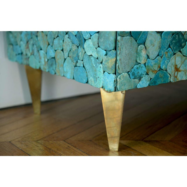 Gold Kam Tin - Turquoise Large Chest of Drawers, France, 2015 For Sale - Image 8 of 10