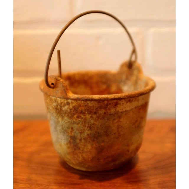 Mid 20th Century Patinated Foundry Smelting Crucible For Sale - Image 5 of 9