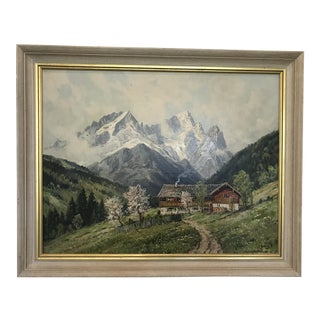 Swedish Landscape Oil Painting, Signed C. Bertold For Sale