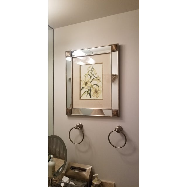 C Print Mirror With Framed Botanical Print For Sale - Image 7 of 11