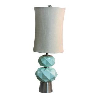 Savannah Sky Blue Table Lamp by Stylecraft For Sale