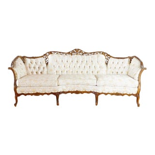 Chateau Chambord Furniture Guild Versailles Collection Walnut Sofa For Sale