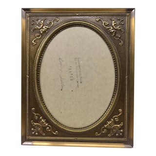 Vintage Carr Usa Carved Brass Photo Frame For Sale