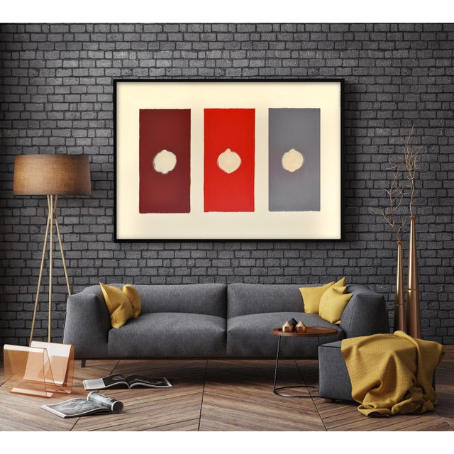 Abstract Red Domino Painting - 30 40 For Sale - Image 3 of 9
