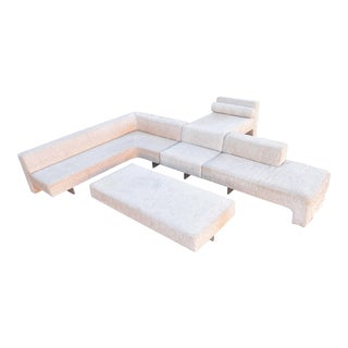 Vladimir Kagan Four-Piece Omnibus Sofa For Sale