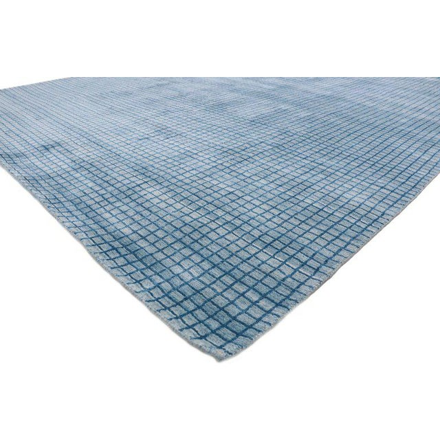 Contemporary Beach Style Area Rug - 8′1″ × 9′10″ For Sale - Image 4 of 10