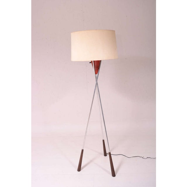 Mid-Century Modern Tripod Floor Lamp For Sale - Image 9 of 9