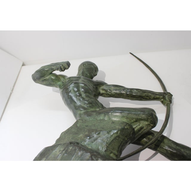 Art Deco Bronze Sculpture Hercules the Archer by Victor Demanet 1925 For Sale - Image 12 of 13