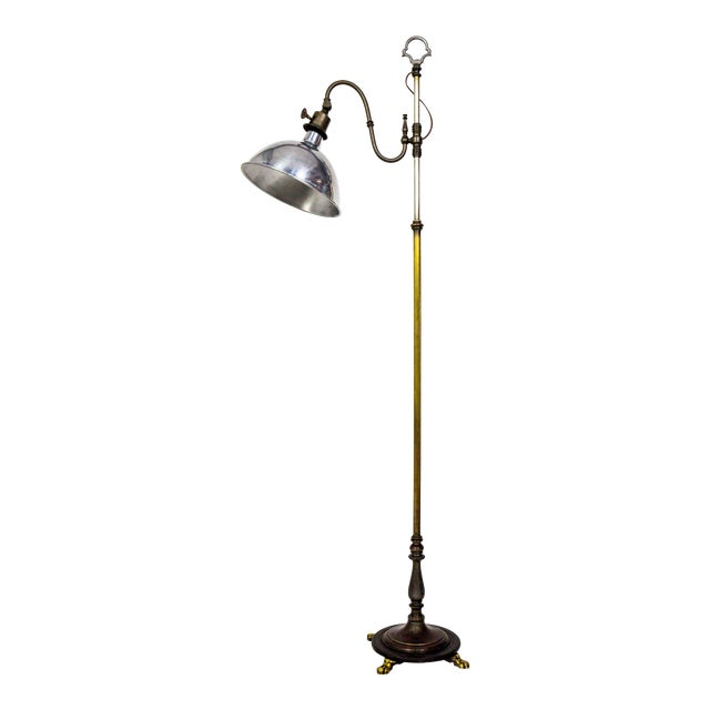 1930's Adjustable Paw Foot Floor Lamp For Sale