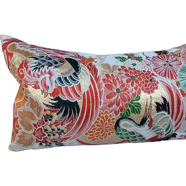 Japanese Obi Metallic Pillow - Image 3 of 5