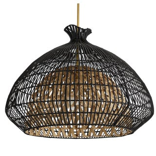 Arteriors Organic Modern Rattan Rimini Pendant Light For Sale