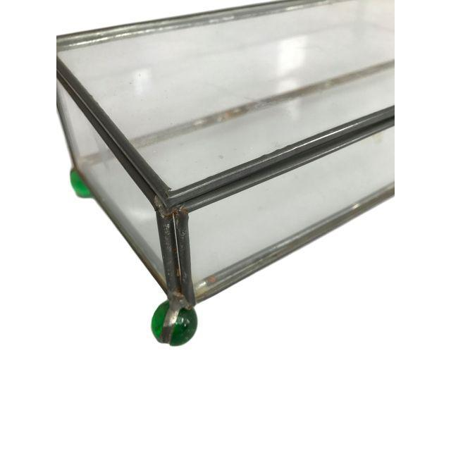Rectangular Glass Box on 4 Marble Feet - Image 3 of 8