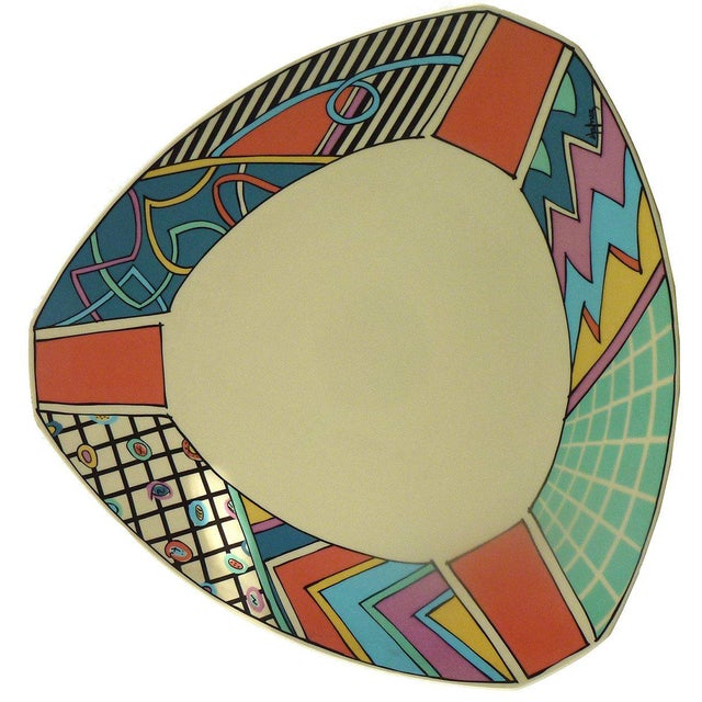 Arts & Crafts Dorothy Hafner Flash Series Stoneware Triangular Platter for Rosenthal, 1980s For Sale - Image 3 of 3