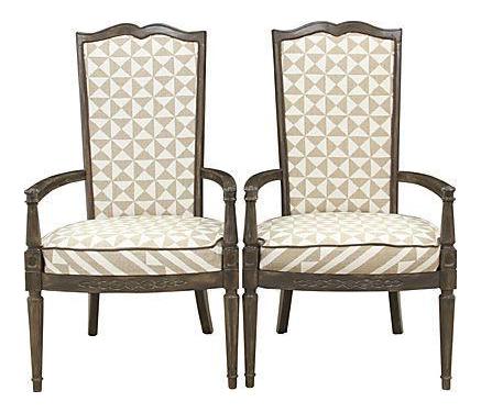 Louis XVI Nuba Chairs   A Pair