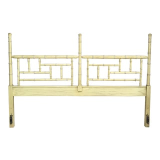 Hollywood Regency Dixie Shangri La Faux Bamboo King Headboard For Sale