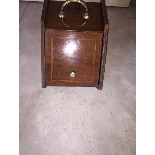 English Traditional Mahogany Coal Bin For Sale - Image 3 of 6