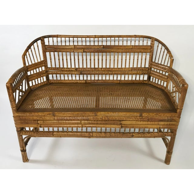 Asian Brighton Pavillion Caned Settee For Sale - Image 3 of 11