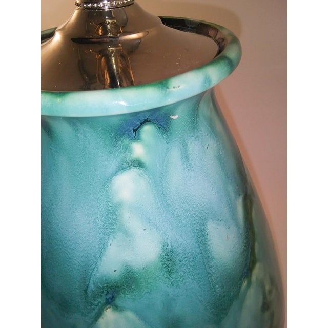 Electricfied Mid-Century German Lava Vase For Sale - Image 4 of 7