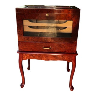 Traditional Cherry Wood Humidor For Sale