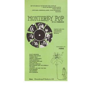 Monterey Pop R1978 Swedish Stolpe Film Poster For Sale