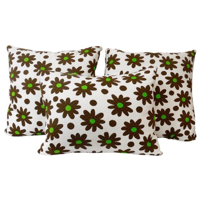 1970's Pop Art Pillows - Set of 3 - Image 1 of 4